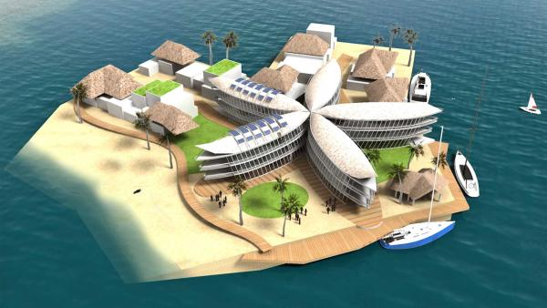 ... Privathäuser oder ... | Rechte: The-Seasteading-Institute-by-Bart-Roeffen