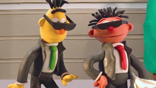 Ernie und Bert als Geheimagenten   Rechte: NDR/Sesameworkshop