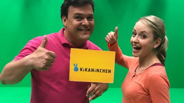 KiKANiNCHEN-Moderartoren Christian und Anni | Rechte: KiKA