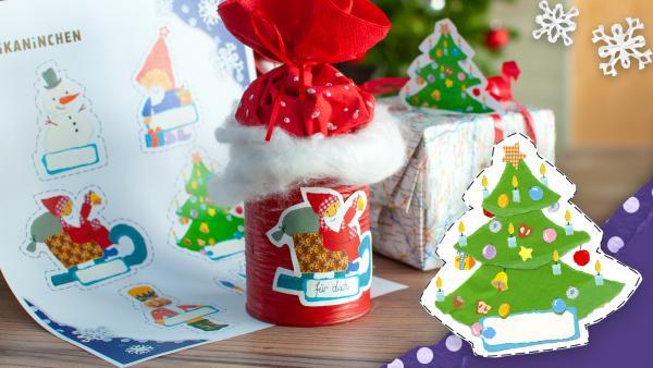 KiKANiNCHEN Geschenkanhänger Weihnachten