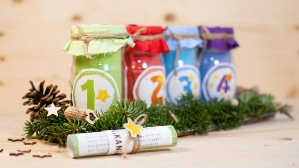 Die Adventssgläser - Jedes Wochenende eine neue Idee für die Familie