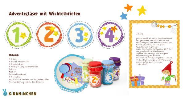 Druckvorlagen für Wichtelbriefe. Mit Zahlen, einem Weihnachtswichtel und kostenlosen Wichtelgescghichten zum Herunterladen und Ausdrucken.  | Rechte: KiKA