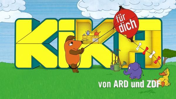 Die Maus und der Elefant vor dem KiKA-Logo | Rechte: KiKA
