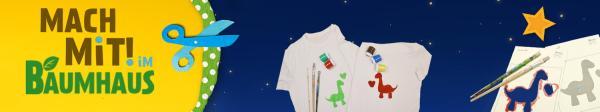 Auf dem Bild ist ein selbstgemachtes T-Shirt zu sehen. Es ist mit Textifarbe gestaltet. Darauf befindet sich ein Dinosaurier mit einem Herzen    Rechte: Kika