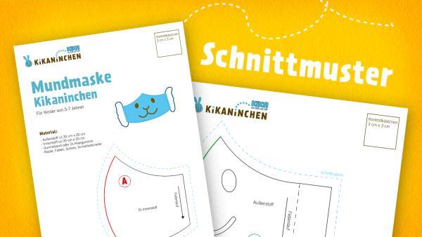 Mundmaske Kikaninchen Schnittmuster  | Rechte: kika, Franziska Spanger