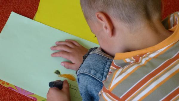 Junge malt ein Bild | Rechte: KiKA