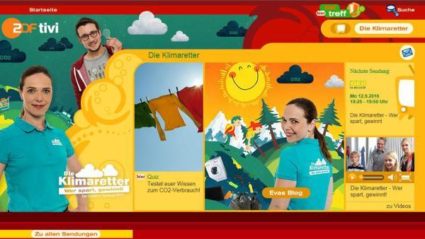 Klimaretter auf ZDFtivi.de | Rechte: Screenshot ZDFtivi.de