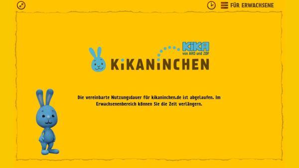 Wenn die Nutzungszeit abgelaufen ist, schließt sich die Website für Kinder. | Rechte: KiKA