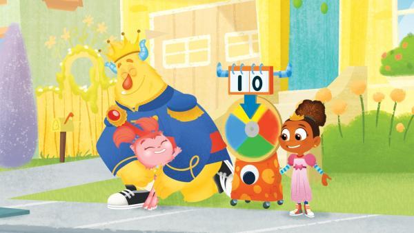 Dank des  ausgeklügelten Spiels der Monstersitter schafft Tillie es rechtzeig zum Bus.   Rechte: KiKA/Nelvana