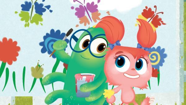 Zu guter Letzt malen Simon und Tillie ein gemeinsames  Bild. | Rechte: KiKA/Nelvana