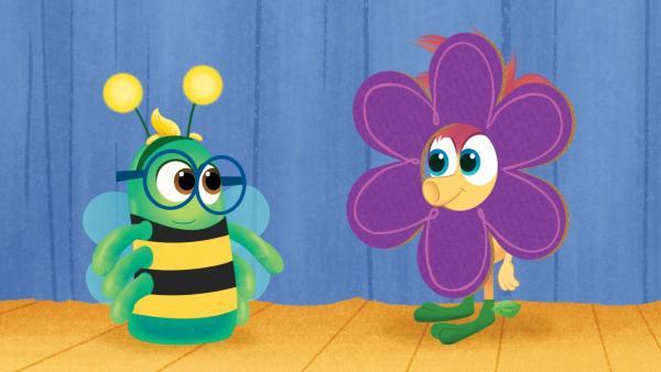 Auch Blumen und Bienen sind Freunde. | Rechte: KiKA/Nelvana
