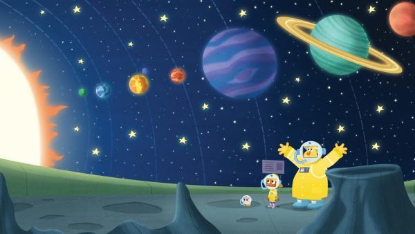 Manchmal wird Monstersitten ein intergalaktischer Ausflug. | Rechte: KiKA/Nelvana
