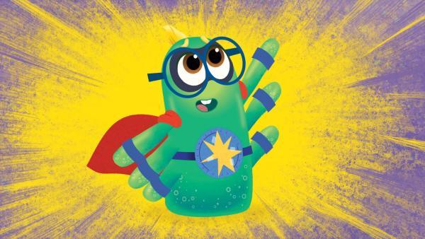 Super-Monster rettet die Lage.   Rechte: KiKA/Nelvana