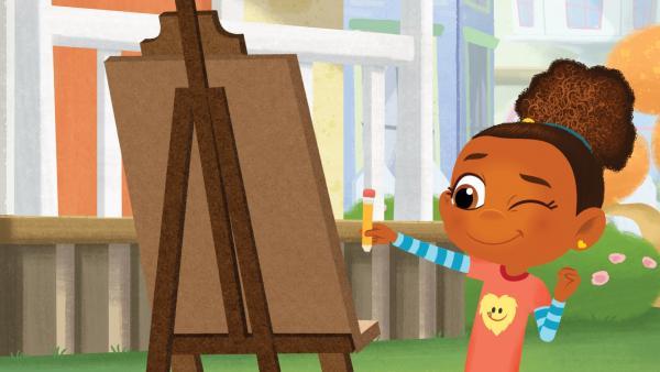 Esme versucht sich als Malerin. | Rechte: KiKA/Nelvana