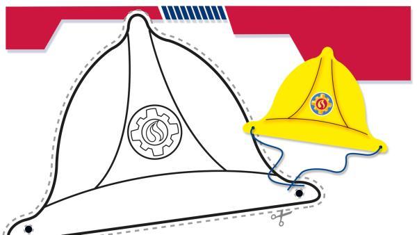 Bastelbogen - Feuerwehr-Helm | Rechte: KiKA/HIT Entertainment