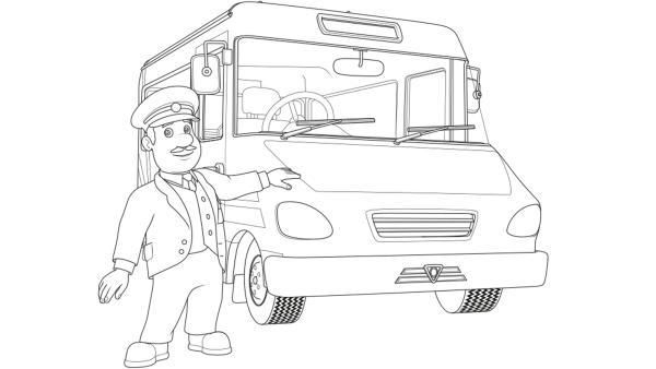 Trevor der Busfahrer steht vor seinem Schulbus | Rechte: Prism Art & Design, HIT Entertainment