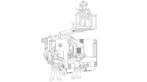 Feuerwehrleute Penny, Elvis, Sam und das Einsatzfahrzeug Jupiter sind im Einsatz | Rechte: Prism Art & Design, HIT Entertainment