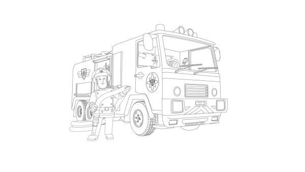 Feuerwehrmann Sam und sein Einsatzfahrzeug Jupiter | Rechte: Prism Art & Design, HIT Entertainment