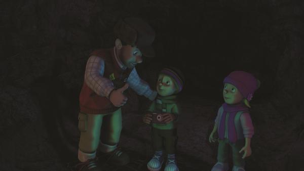 Moose versichert Sarah und James, dass sie sich keine Sorgen machen müssen. | Rechte: KiKA/2011 Prism Art & Design Limited