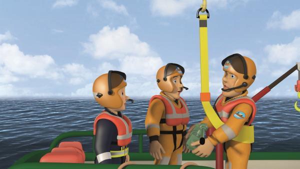 Feuerwehrmann Sam und Penny haben eine Lösung gefunden, die anderen zu retten. | Rechte: KiKA/2011 Prism Art & Design Limited