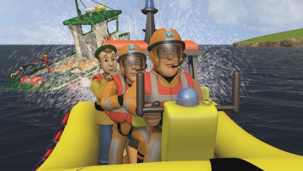 Feuerwehrmann Sam kann Charlie und die Kinder retten.   Rechte: KiKA/2011 Prism Art & Design Limited