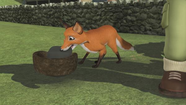 Der Fuchs ist viel schlauer als die beiden Männer.   Rechte: KiKA/2011 Prism Art & Design Limited