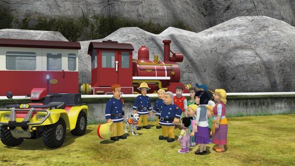 Feuerwehrmann Sam wird mit Schnuffi nach Norman und der großen Käserolle suchen. | Rechte: KiKA/2014 Prism Art & Design Limited