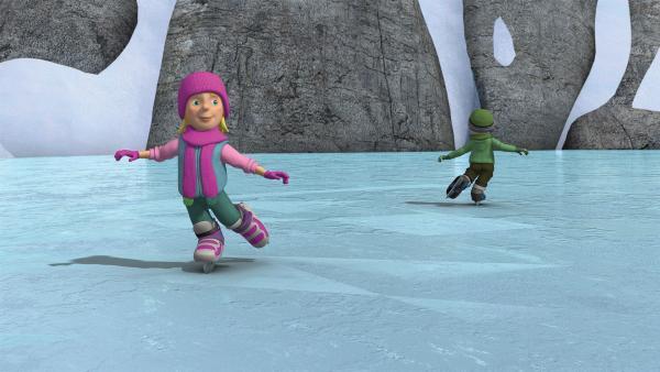 Sarah und James sind fantastische Schlittschuhläufer. | Rechte: KiKA/2014 Prism Art & Design Limited
