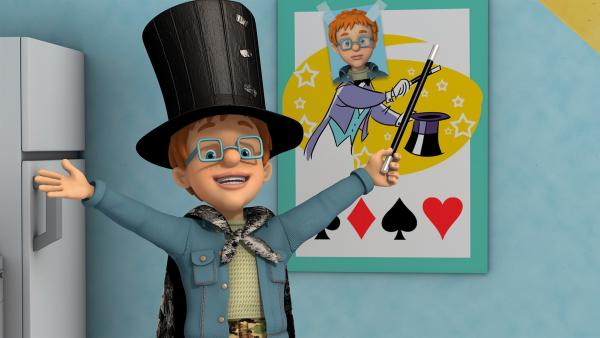 Norman möchte eine Zaubershow vorführen.   Rechte: KiKA/2014 Prism Art & Design Limited