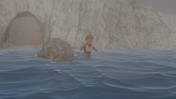 Norman traut sich nicht in die Höhle zurück. Aber das Wasser steigt immer höher. | Rechte: KiKA/2014 Prism Art & Design Limited