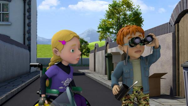 Hannah und Norman suchen den entlaufenen Fuchs. | Rechte: KiKA/Prism Art & Design Limited