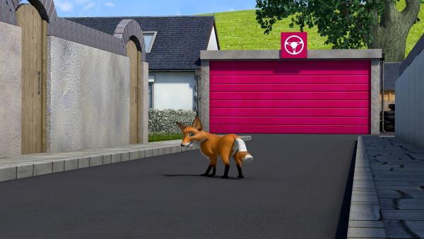 Der Fuchs irrt durch Pontypandy.   Rechte: KiKA/Prism Art & Design Limited