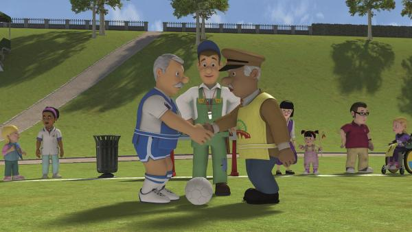 Das Pontypandy-Fußballspiel kann beginnen.    Rechte: KiKA/Prism Art & Design Limited