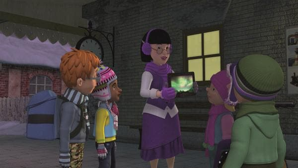 Frau Chen möchte den Kindern die Polarlichter zeigen.  | Rechte: KiKA/Prism Art & Design Limited