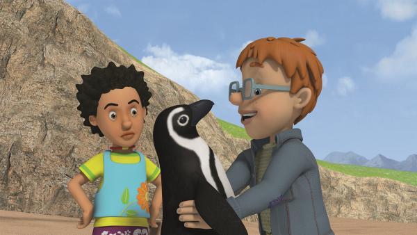 Norman möchte den Pinguin behalten. | Rechte: KiKA/Prism Art & Design Limited