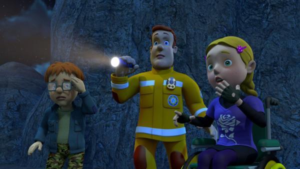 Die Rätsel-Löser Norman und Hannah brauchen Sams Hilfe, um den mysteriösen Fall einer Invasion von Mond-Menschen aufzuklären.   Rechte: KiKA/Prism Art & Design Limited/HIT Entertainment