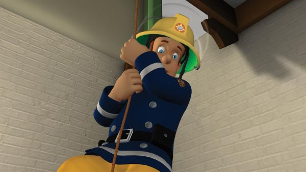 Feuerwehrmann Sam wird gerufen, Mike Flood steckt in Schwierigkeiten.   Rechte: KiKA/HIT Entertainment