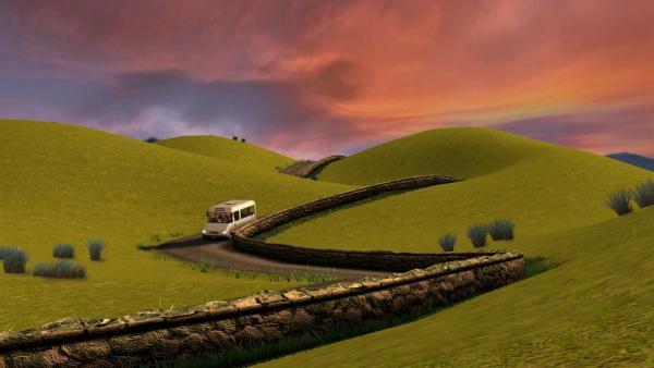 Trevor und die Kinder unternehmen einen Ausflug mit dem Bus. | Rechte: KiKA/HIT Entertainment