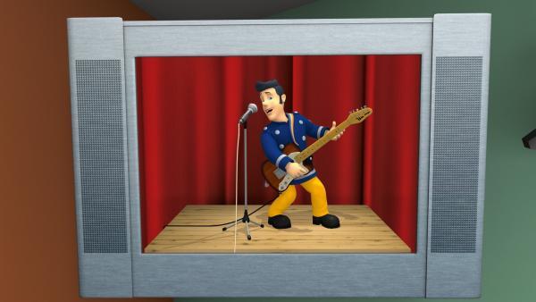 Elvis hat einen Fernsehauftritt.   Rechte: KiKA/HIT Entertainment