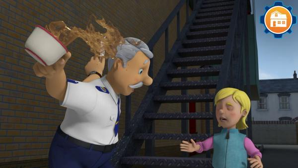 Halte die Treppe frei! | Rechte: KiKA