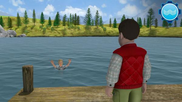 Planschen im See | Rechte: KiKA