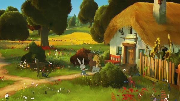 Los geht's in ein aufregendes Abenteuer.   Rechte: NDR/Janosch-Filme/Papa Löwe Filmproduktion/Virgin Lands Animated P.