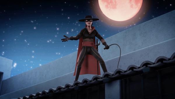 Zum ersten Mal taucht Zorro auf und hilft, die Bauern zu befreien. | Rechte: KiKA/Cyber Group Studios – Zorro Productions Inc.