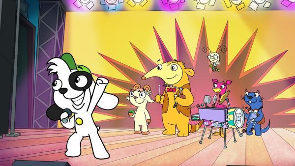 Doki kann das Publikum begeistern. | Rechte:  KiKA/Portfolio Entertainment