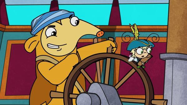 Otto und Mundi können kaum Kurs halten. | Rechte: KiKA/Portfolio Entertainment