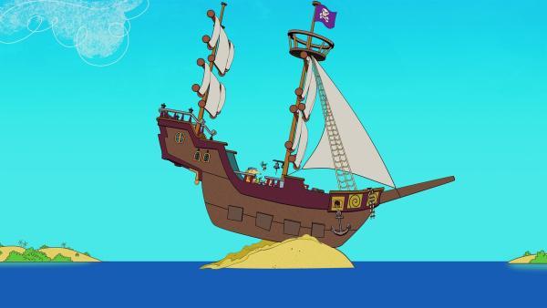 Das Schiff ist auf Grund gelaufen.  | Rechte: KiKA/Portfolio Entertainment