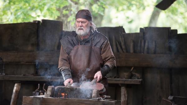 Björn der Schmied (Peter Haber) macht sich Sorgen um Halvdan. | Rechte: NDR/Anders Nicander