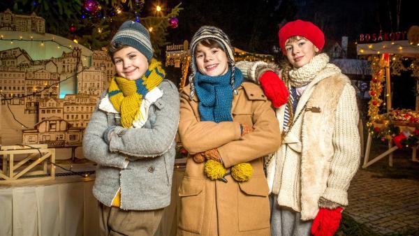 Eman (Lukáš Březina, li.), Albert (Filip Antonio, Mi.) und Johana (Michaela Pecháčková, re.) | Rechte: MDR/Michaela Buchtová