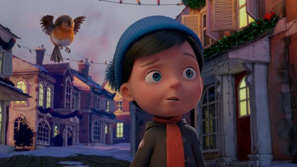Henry wundert sich, dass es in der Stadt überall noch dunkel ist und keine Weihnachtsdekoration leuchtet. | Rechte: KiKA/Dream Logic & Lupusfilm/Trickshot Films