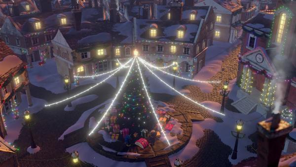 Der Marktplatz glänzt in weihnachtlicher Pracht. | Rechte: KiKA/Dream Logic & Lupusfilm/Trickshot Films